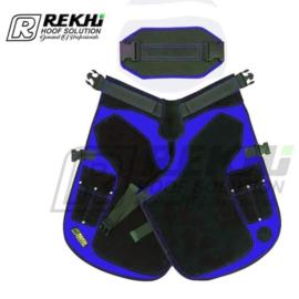FT 106  Schort - Blue Lengte 70cm with back  support  1440 gram