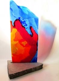 Glazenkunstwerk als urn