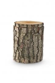 Natuurlijke urn van eikenhout. 9000