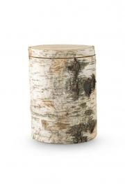 Natuurlijke urn van berkenhout. 9100