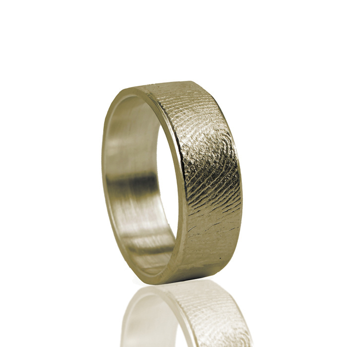 Enkele voorbeelden van ringen met vinger afdruk