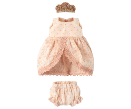 MAILEG - MICRO & MOUSE PRINCESS DRESS - ROSE