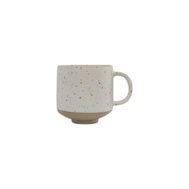 OYOY - HAGI CUP - WHITE / LIGHT BROWN