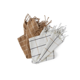 OYOY - GOBI THEEDOEK SET VAN 2 - CAMEL / OFF-WHITE