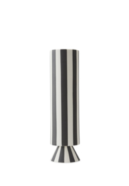 OYOY - TOPPU VASE HIGH - BLACK / WHITE