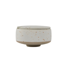 OYOY - HAGI SUGAR BOWL - WHITE / LIGHT BROWN