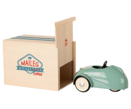 MAILEG - MOUSE CAR WITH GARAGE - BLUE