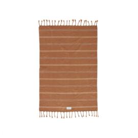OYOY - KYOTA GUEST TOWEL 100x67CM - DARK CARAMEL