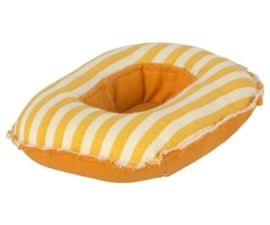MAILEG - RUBBER BOAT SMALL MOUSE - YELLOW STRIPE