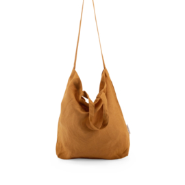MONK & ANNA - BAYA WASHED LINEN SHOPPER - H0NEY