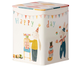 MAILEG - HAPPY DAY METAL BOX 11x11x15cm