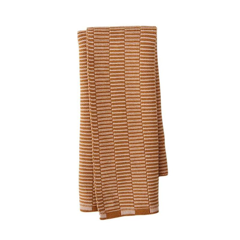 OYOY - STRINGA MINI TOWEL / HANDDOEKJE - CARAMEL / ROSE