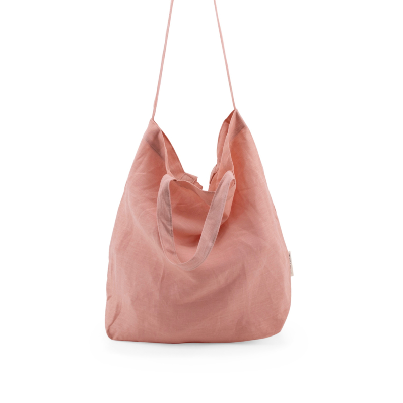 MONK & ANNA - BAYA WASHED LINEN SHOPPER - DAWN