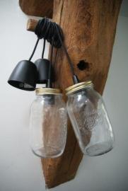 hanglamp met stoer zwart strijkijzersnoer