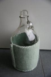 fles met wol - groen