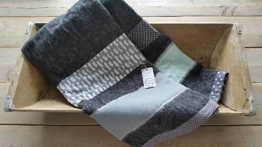 woondeken grijs/groen/wit
