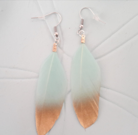 feather Turquoise Green
