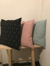 Kussen Hexagon roze