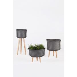 handed by up high plantenstandaard kunststof/hout 60 cm