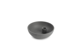Candle holder 15,5XH5CM BLACK PILLAR