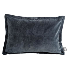 Bing dark grey velvet cushion & fill