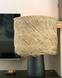 The Pandan Table Lamp - Black Natural