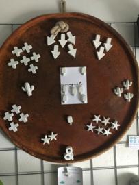 Beton magneetjes set van 3 stuks
