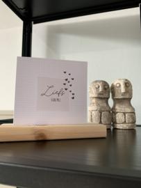 """Dubbele kaart met envelop """"liefs van mij"""""""