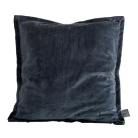 Bing dark grey velvet cushion & fill square