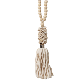 White Coffee Bead Necklace
