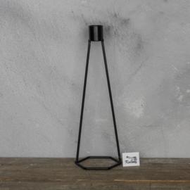Kaarsen standaard metaal 8x7x25 cm
