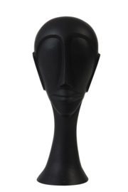 Ornament Head hout  zwart 11,5X10X28 CM