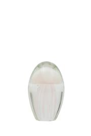 Ornament Ø7x11 cm JELLYFISH glas licht roze