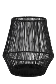 Windlicht Vito mat zwart