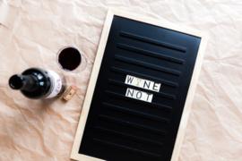 Oldschool letter board 30 x 45 zwart