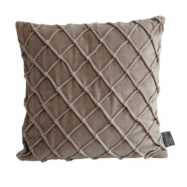 Bing beige velvet cushion & fill square