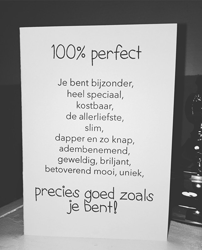 Beste 100% perfect | Tekst & foto kaarten | Created-By DF-89