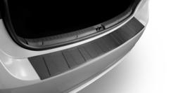 Alfa Romeo Giulia 2016>   Bescherming (strip) op de achterbumper -  Zwart (Satin Black)Silver Satine)