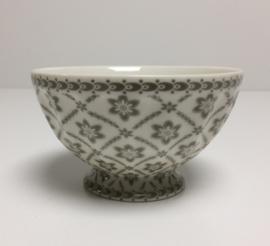 Greengate  French bowl medium Alba pale grey.