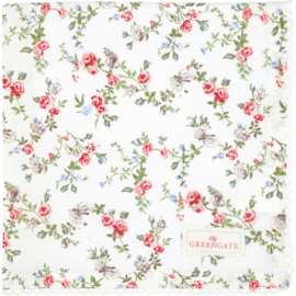 Greengate Napkin with lace Carly white 40x40cm