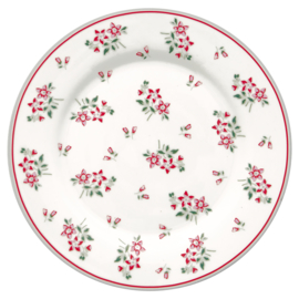 Greengate Ontbijtbord/plate  Avery white