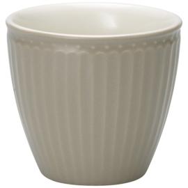 Greengate Latte cup/beker Alice warm grey.