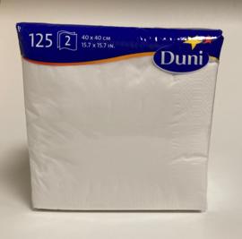 Duni servetten wit 40x40cm