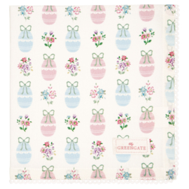 Greengate Napkin with lace Elsie white 40x40cm