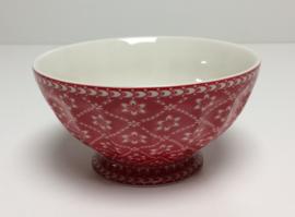 Greengate French bowl xl Alba red