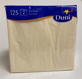 Duni servetten buttermilk 33x33cm