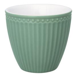 Greengate Latte cup/beker Alice dusty green.
