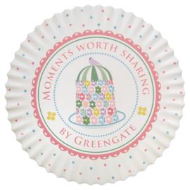 Greengate coaster round Tenna white 20cm