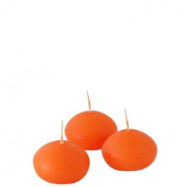 Drijfkaarsen klein oranje.