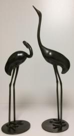 Set kraanvogels brons